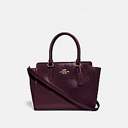 COACH F31357 Leah Satchel OXBLOOD 1/LIGHT GOLD