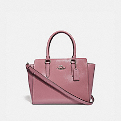 LEAH SATCHEL - f31357 - SILVER/DUSTY ROSE