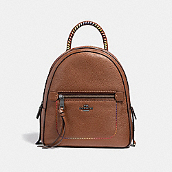 ANDI BACKPACK WITH RAINBOW STITCHING - f31368 - Saddle Multi/Black Antique Nickel