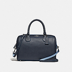 LARGE BENNETT SATCHEL - f31375 - SILVER/MIDNIGHT