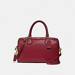 LARGE BENNETT SATCHEL - F31376 - CHERRY /LIGHT GOLD
