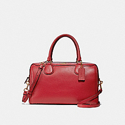 LARGE BENNETT SATCHEL - f31376 - TRUE RED/light gold