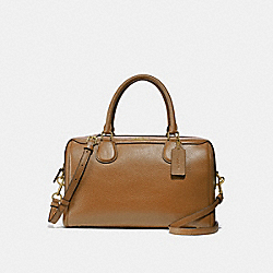 LARGE BENNETT SATCHEL - f31376 - LIGHT SADDLE/light gold