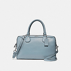 LARGE BENNETT SATCHEL - f31376 - SILVER/PALE BLUE