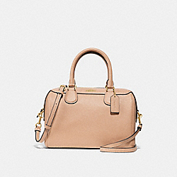 MINI BENNETT SATCHEL - f31377 - BEECHWOOD/light gold