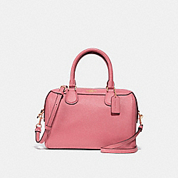 MINI BENNETT SATCHEL - f31377 - PEONY/light gold