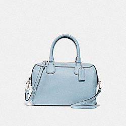 MINI BENNETT SATCHEL - f31377 - SILVER/PALE BLUE