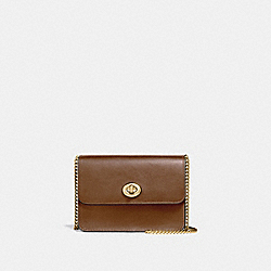 BOWERY CROSSBODY WITH SIGNATURE CANVAS - F31384 - KHAKI/SADDLE 2/IMITATION GOLD