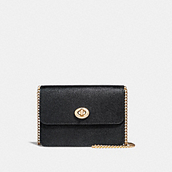 COACH F31387 - BOWERY CROSSBODY BLACK/LIGHT GOLD