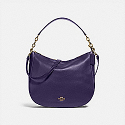 COACH F31399 - ELLE HOBO DARK PURPLE/IMITATION GOLD