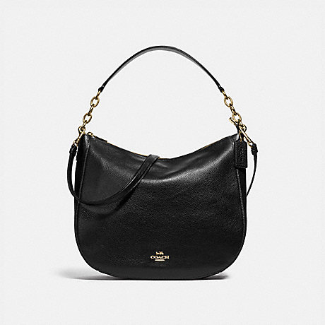 COACH F31399 ELLE HOBO BLACK/LIGHT-GOLD