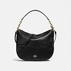 COACH F31399 - ELLE HOBO BLACK/LIGHT GOLD