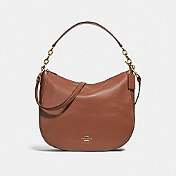 ELLE HOBO - F31399 - SADDLE 2/LIGHT GOLD