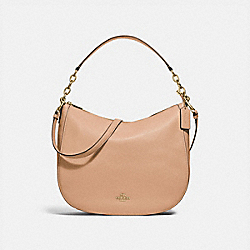 COACH F31399 Elle Hobo BEECHWOOD/LIGHT GOLD