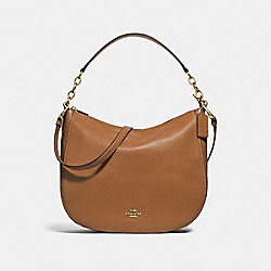 ELLE HOBO - F31399 - LIGHT SADDLE/IMITATION GOLD