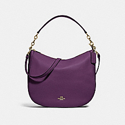 COACH F31399 - ELLE HOBO GOLD/BLACKBERRY