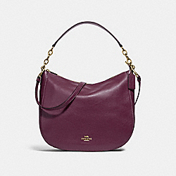COACH F31399 - ELLE HOBO RASPBERRY/LIGHT GOLD