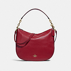 COACH F31399 Elle Hobo RUBY/LIGHT GOLD