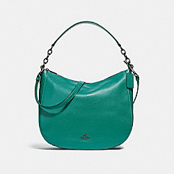 COACH F31399 Elle Hobo TEAL/BLACK ANTIQUE NICKEL