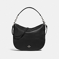 COACH F31399 Elle Hobo BLACK/SILVER
