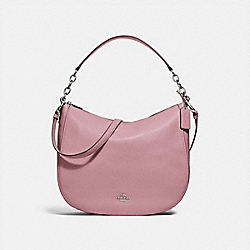 COACH F31399 Elle Hobo SILVER/DUSTY ROSE