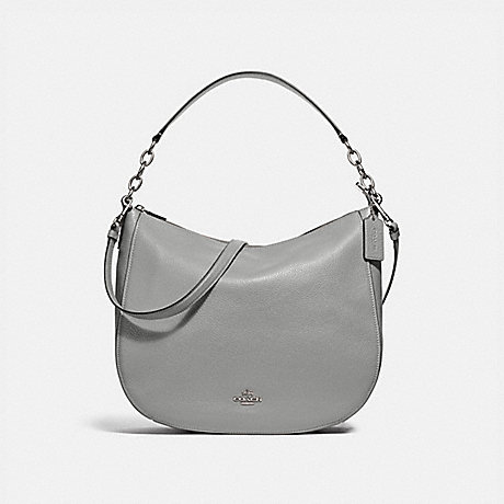 COACH F31399 ELLE HOBO HEATHER-GREY/SILVER
