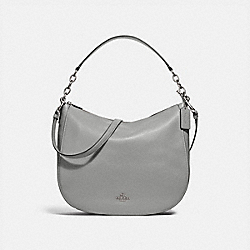 COACH F31399 Elle Hobo HEATHER GREY/SILVER