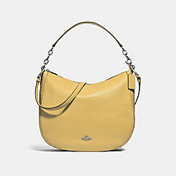 COACH F31399 Elle Hobo LIGHT YELLOW/SILVER