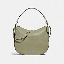 COACH F31399 Elle Hobo LIGHT CLOVER/SILVER