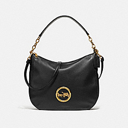 COACH F31400 Elle Hobo BLACK/OLD BRASS