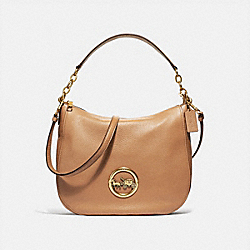 COACH F31400 Elle Hobo LIGHT SADDLE/OLD BRASS
