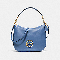 ELLE HOBO - F31400 - DARK PERIWINKLE/OLD BRASS