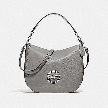 COACH F31400 ELLE HOBO HEATHER-GREY/SILVER