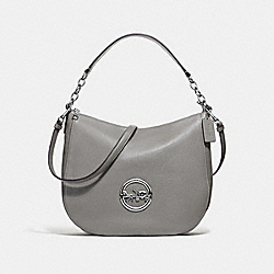 COACH F31400 - ELLE HOBO HEATHER GREY/SILVER