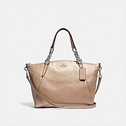 SMALL KELSEY CHAIN SATCHEL - F31409 - PLATINUM/SILVER