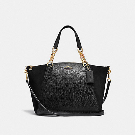 COACH F31410 SMALL KELSEY CHAIN SATCHEL BLACK/LIGHT-GOLD
