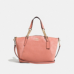 SMALL KELSEY CHAIN SATCHEL - F31410 - MELON/LIGHT GOLD
