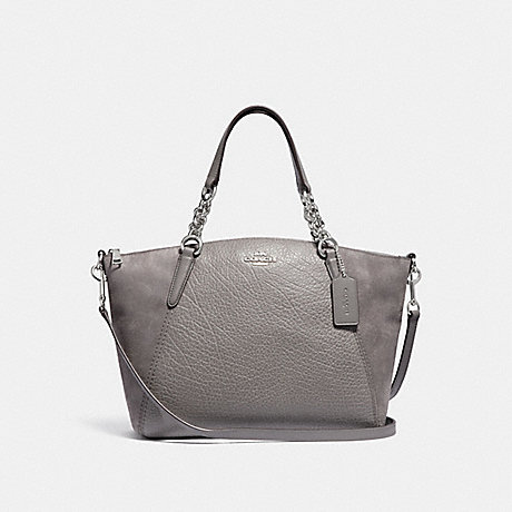 COACH F31410 SMALL KELSEY CHAIN SATCHEL HEATHER-GREY/SILVER