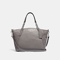 SMALL KELSEY CHAIN SATCHEL - F31410 - HEATHER GREY/SILVER