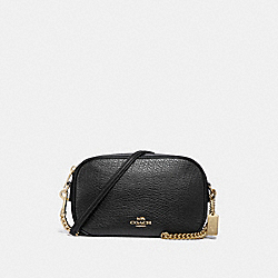 COACH F31411 Isla Chain Crossbody BLACK/LIGHT GOLD
