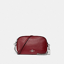COACH F31411 Isla Chain Crossbody CHERRY/SILVER