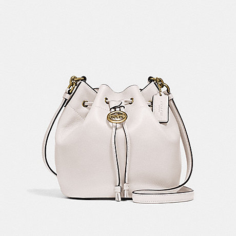 ELLE DRAWSTRING CROSSBODY - COACH F31412 - CHALK/OLD BRASS