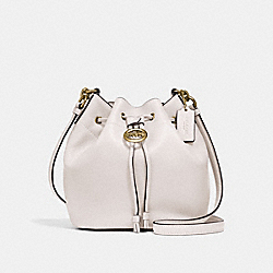 COACH F31412 Elle Drawstring Crossbody CHALK/OLD BRASS