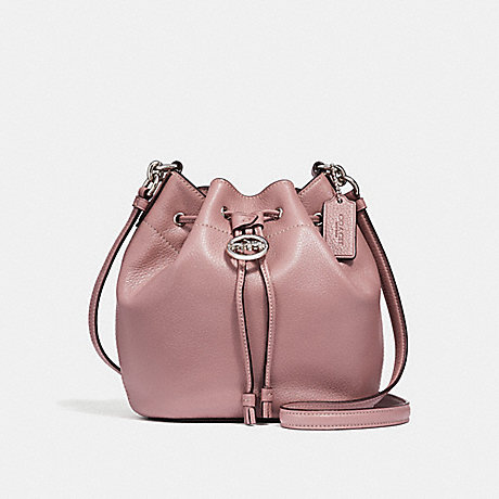 COACH F31412 ELLE DRAWSTRING CROSSBODY DUSTY-ROSE/SILVER