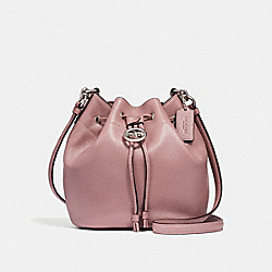 COACH F31412 Elle Drawstring Crossbody SILVER/DUSTY ROSE