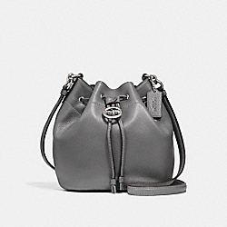 COACH F31412 Elle Drawstring Crossbody HEATHER GREY/SILVER