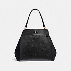 LARGE LEXY SHOULDER BAG - F31415 - BLACK/LIGHT GOLD