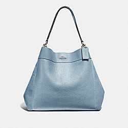 LARGE LEXY SHOULDER BAG - F31415 - CORNFLOWER/SILVER