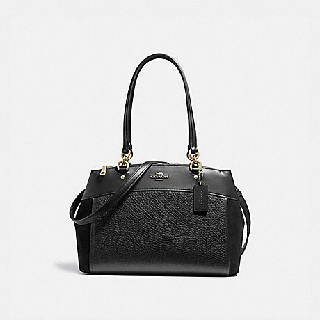 COACH F31418 BROOKE CARRYALL BLACK/LIGHT-GOLD