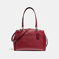 COACH F31418 Brooke Carryall CHERRY/SILVER